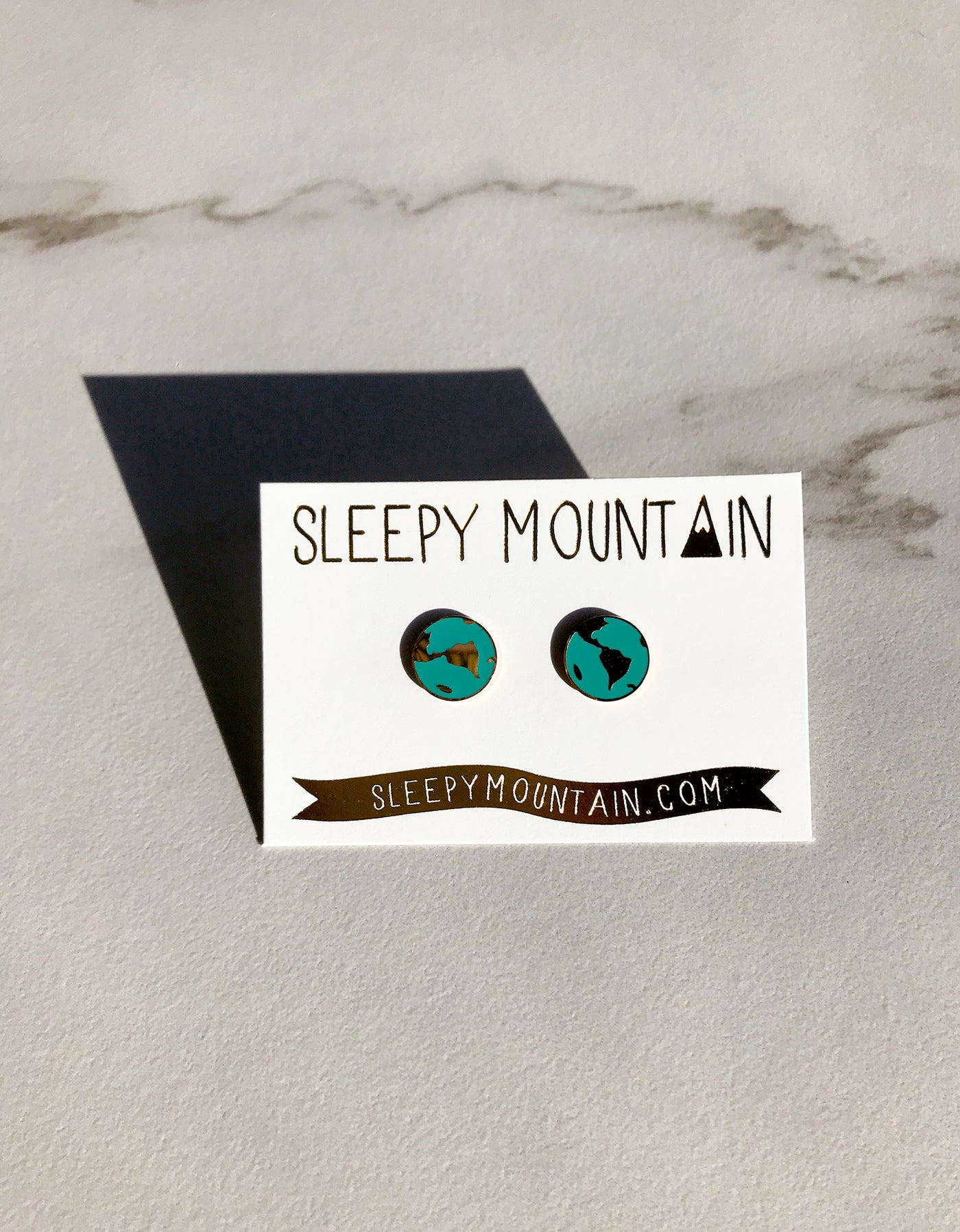 SALE - World Earrings - 22k Gold Plated - SleepyMountain