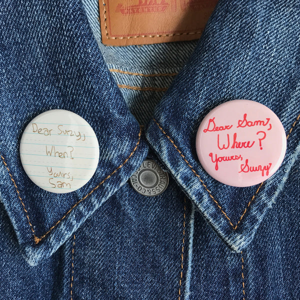 Dear Suzy & Dear Sam Moonrise Kingdom Buttons - SleepyMountain