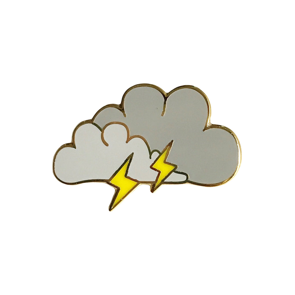 Lightning Cloud Enamel Pin