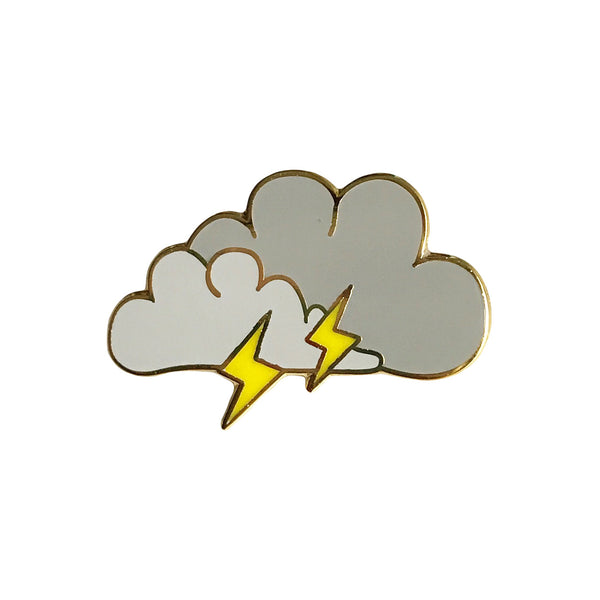 Lightning Cloud Enamel Pin - SleepyMountain