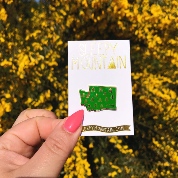 Washington Trees Enamel Pin - SleepyMountain