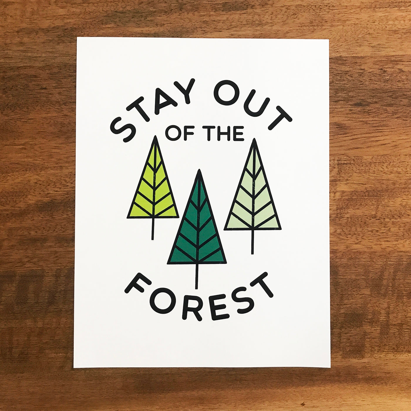 Stay Out of the Forest Print - SleepyMountain