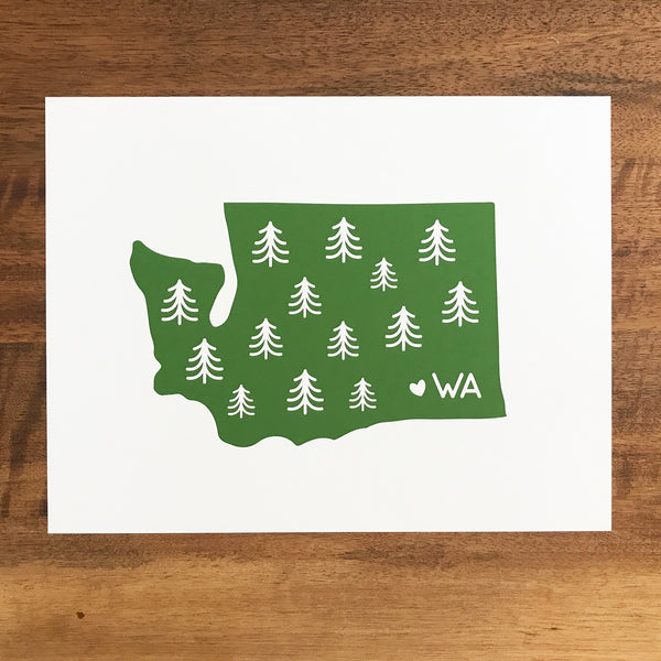 Washington State Print - SleepyMountain