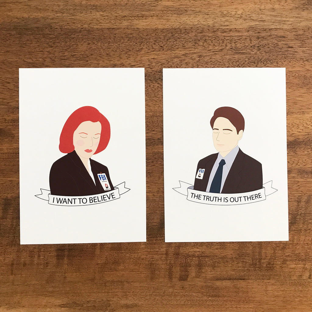 X-Files Mini Print Set - SleepyMountain