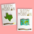 Travel Map Enamel Pin - SleepyMountain