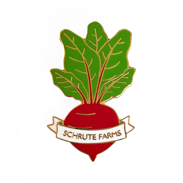 Schrute Farms Beet Enamel Pin - SleepyMountain