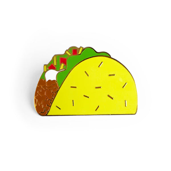 Taco Enamel Pin - SleepyMountain