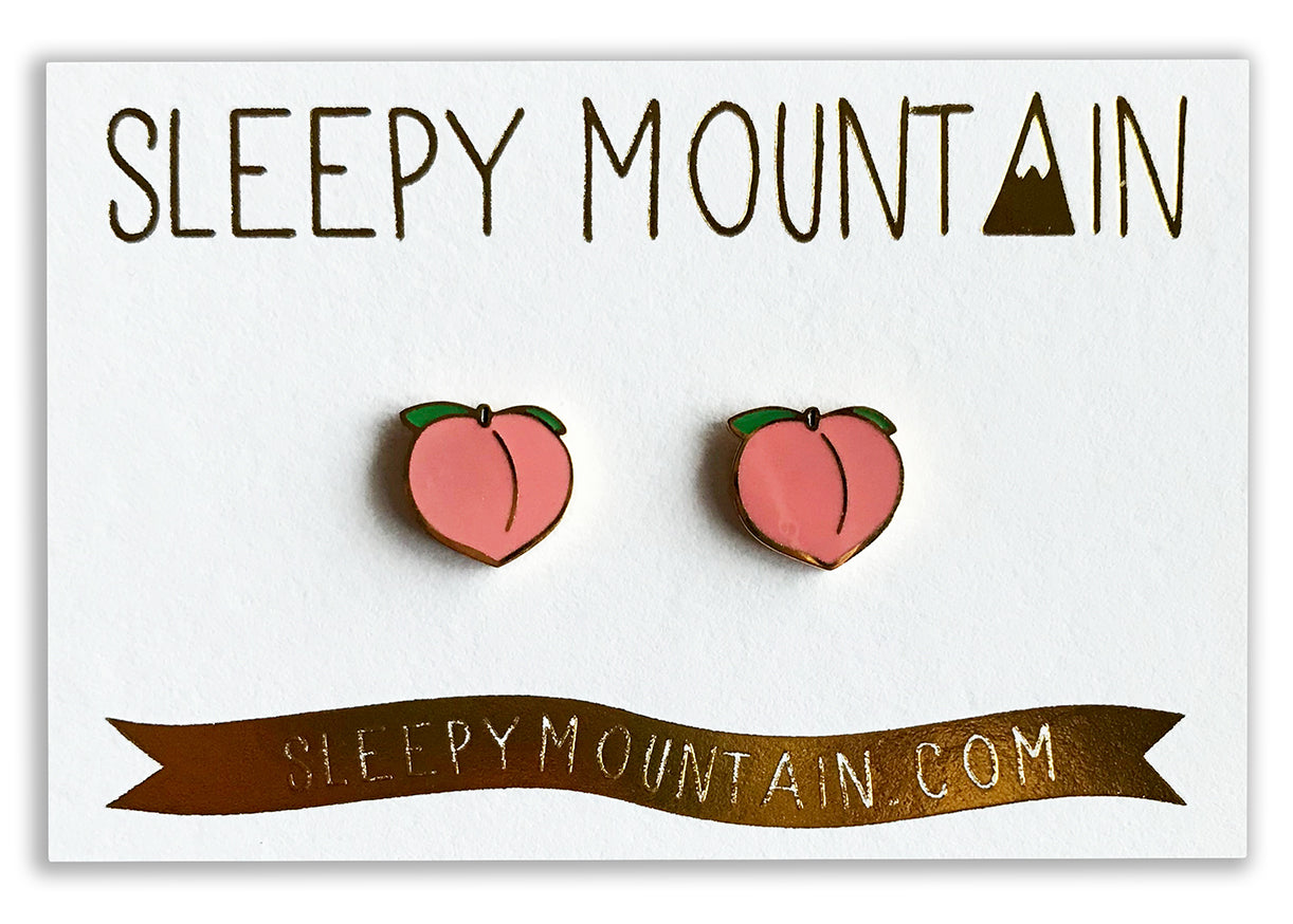 Peach Earrings - 22k Gold Plated - SleepyMountain