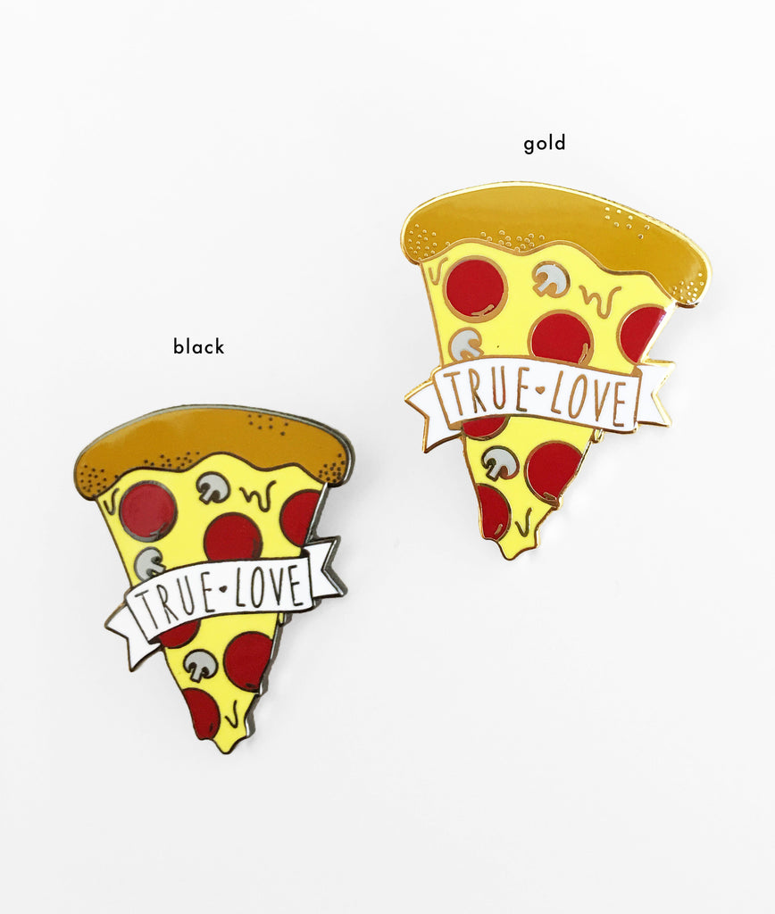 Pizza True Love Enamel Pin - SleepyMountain