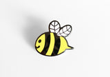 Bee Enamel Pin - Help Save the Bees - SleepyMountain