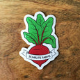 Schrute Farms Beet Sticker - SleepyMountain
