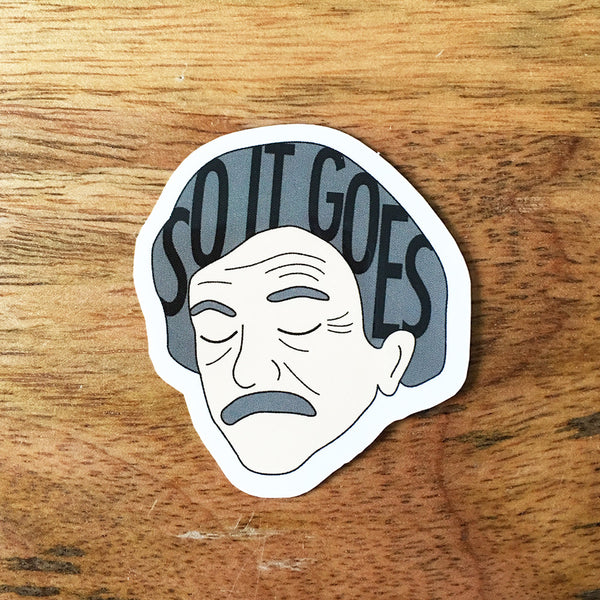 Kurt Vonnegut Sticker - SleepyMountain