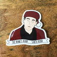 Michael Scott Santa Bond - The Office Vinyl Stickers - SleepyMountain