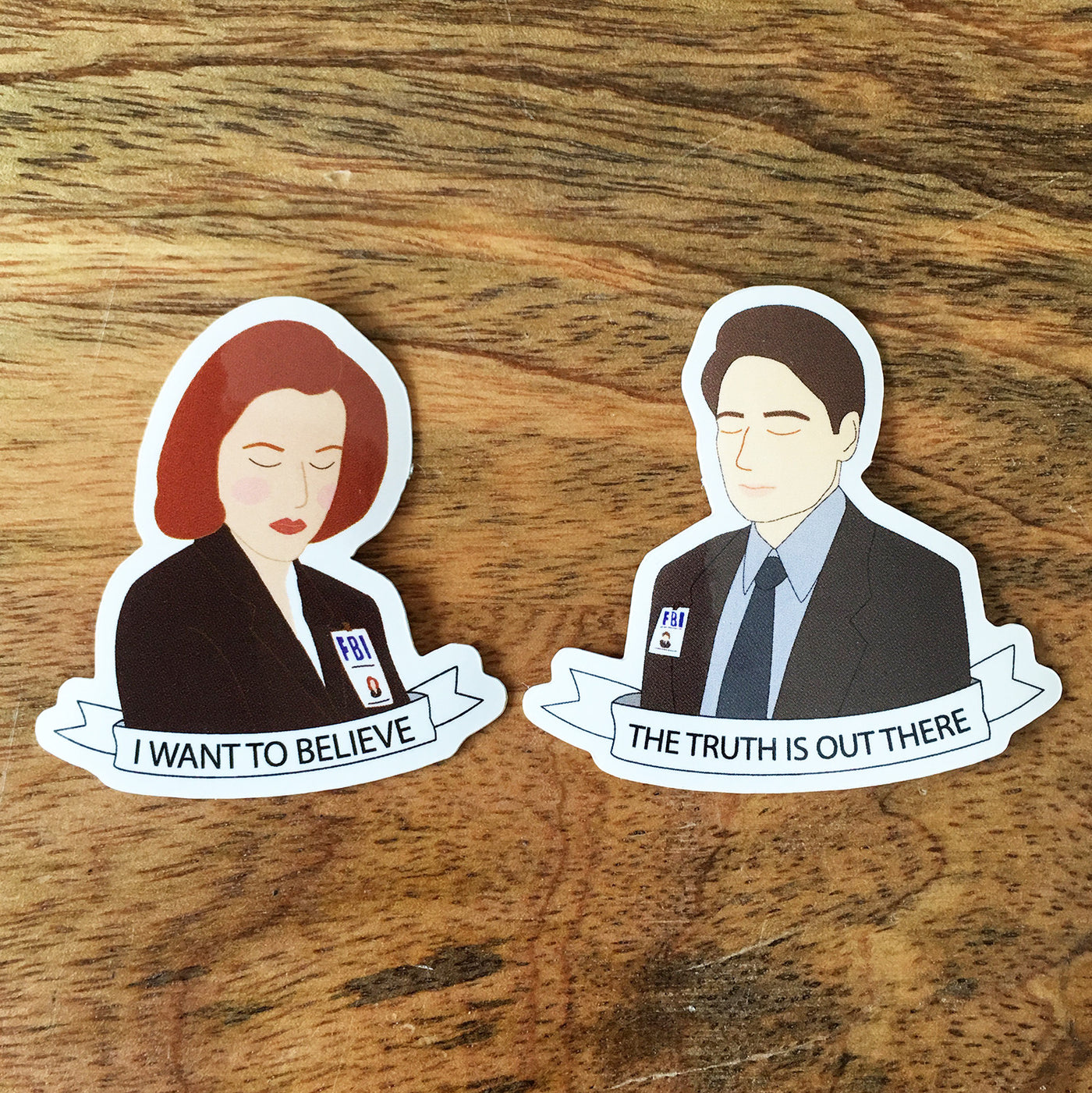 Set of 2 X-Files Stickers - SleepyMountain
