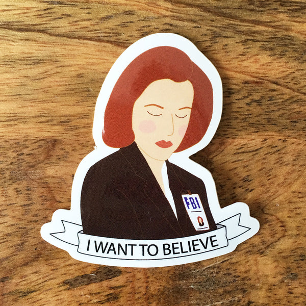 X-Files Dana Scully Sticker - SleepyMountain