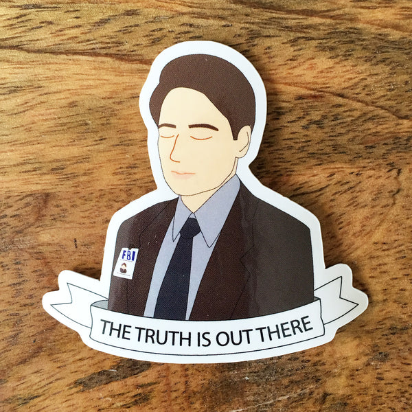 X-Files Fox Mulder Sticker - SleepyMountain