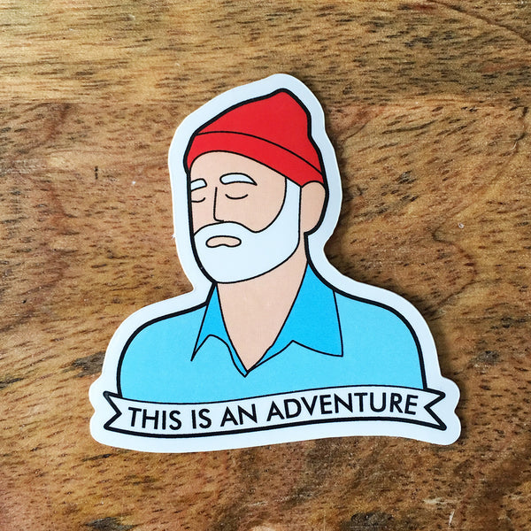 Steve Zissou Sticker - SleepyMountain