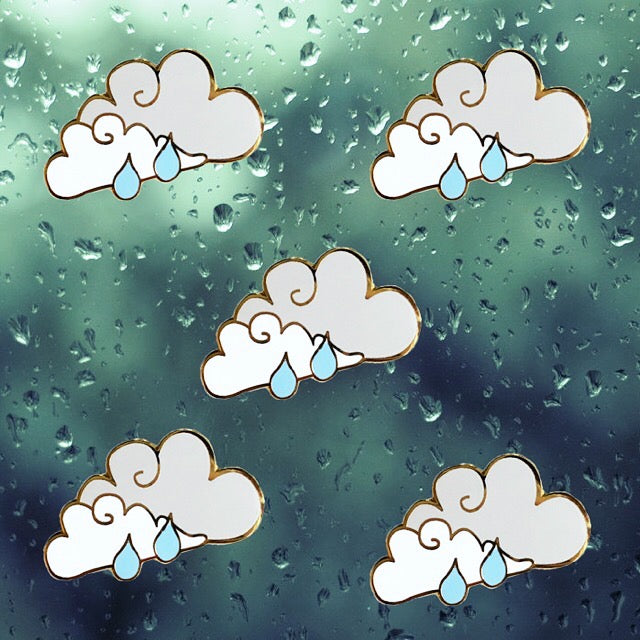 Rain Cloud Enamel Pin - SleepyMountain