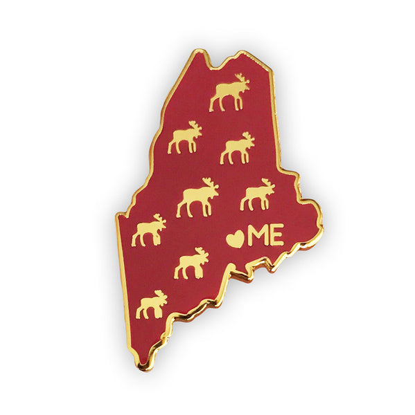 Maine Enamel Pin