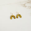 Sparkly Gold - Mini Arch Hoop Earrings - SleepyMountain