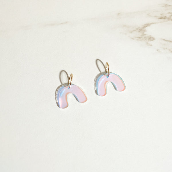 Iridescent - Mini Arch Hoop Earrings - SleepyMountain