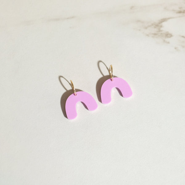 Lilac - Mini Arch Hoop Earrings - SleepyMountain