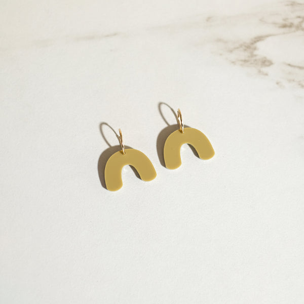 Olive - Mini Arch Hoop Earrings - SleepyMountain