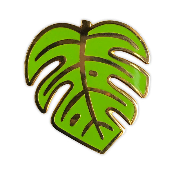Monstera Leaf Enamel Pin - SleepyMountain