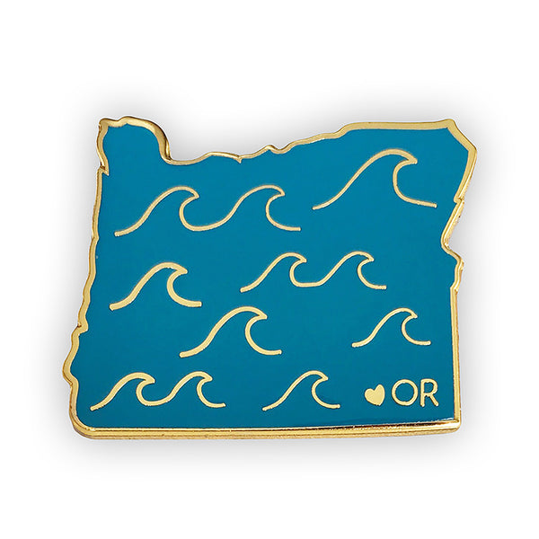 Oregon Enamel Pin - SleepyMountain