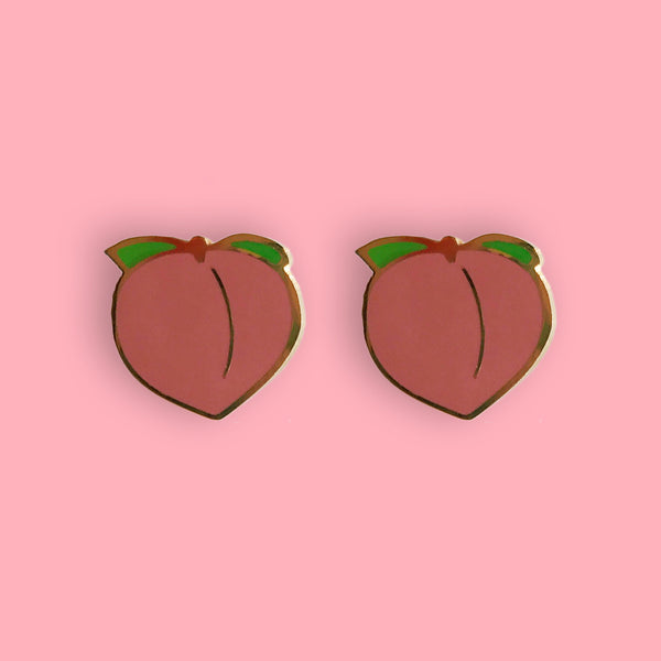 Peach Earrings - 22k Gold Plated