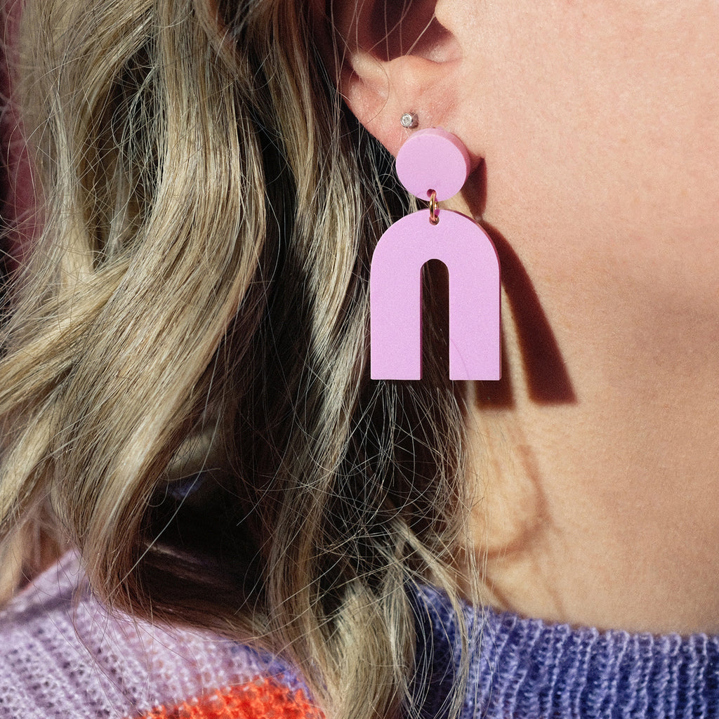 Lilac Arch Dangle Earrings - SleepyMountain