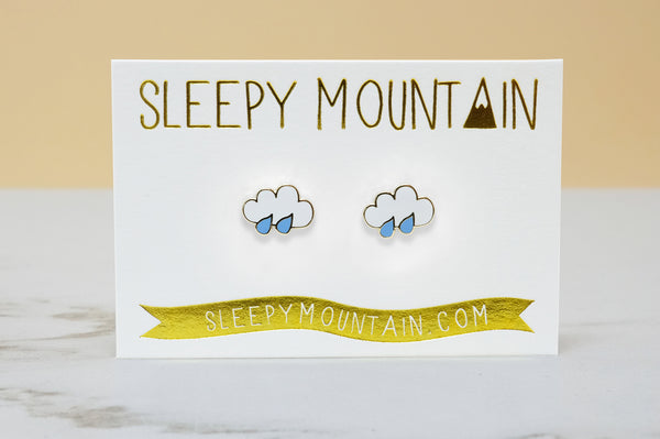 Rain Cloud Earrings - SleepyMountain
