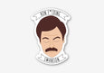 Ron Swanson Sticker - Parks and Recreation - SleepyMountain