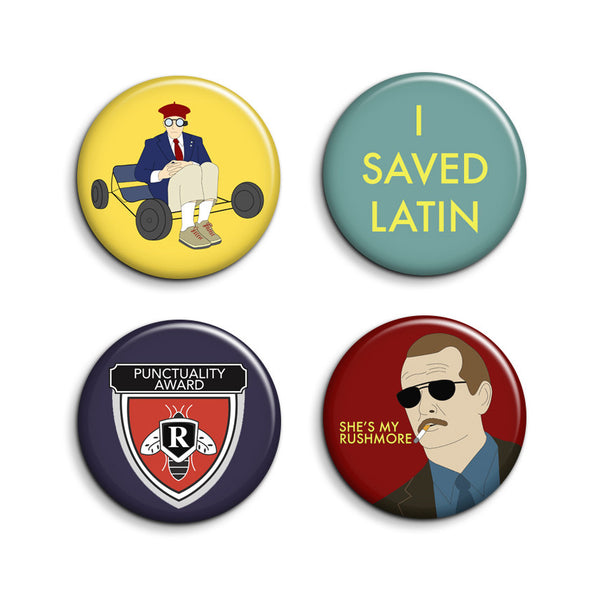 Rushmore Buttons - Set of 4