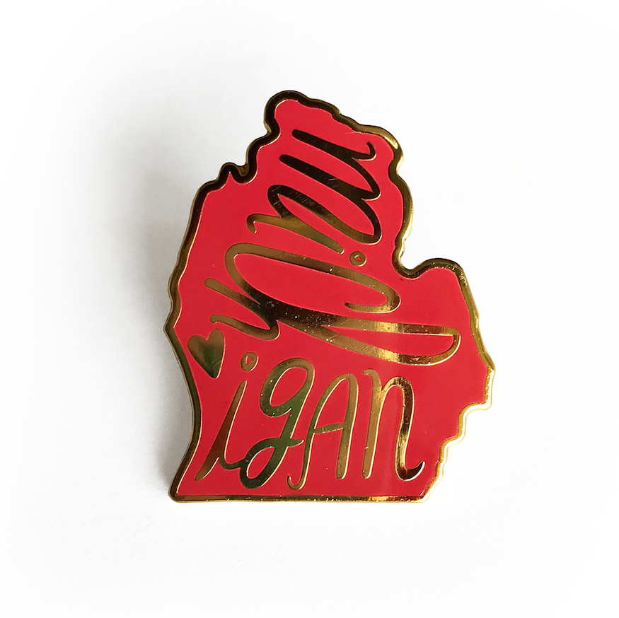 Michigan Enamel Pin - SleepyMountain
