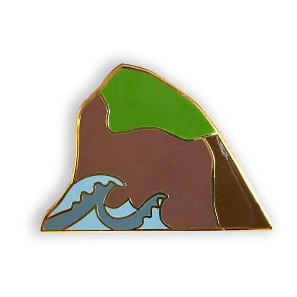 Sea Rock Enamel Pin - SleepyMountain