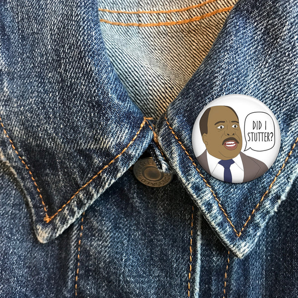 Stanley Hudson - The Office Buttons - SleepyMountain