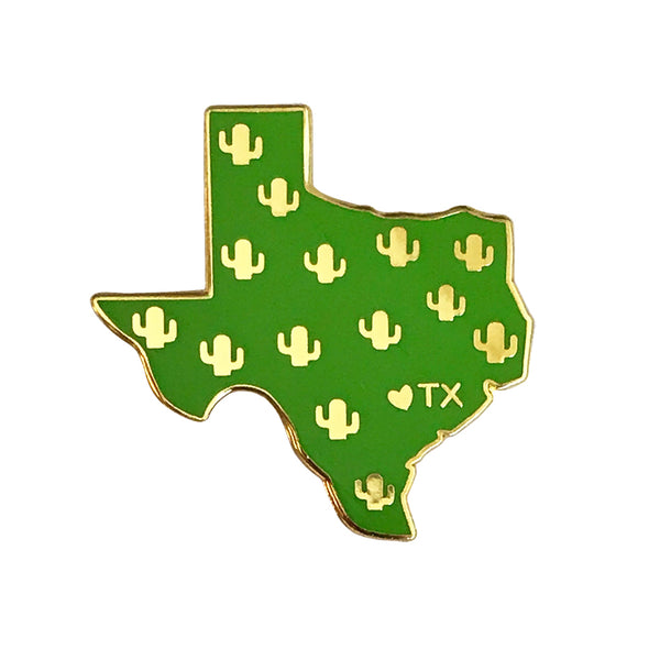 Texas Cacti Enamel Pin - SleepyMountain