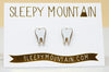 Teeth Earrings - 22k Gold Plated - SleepyMountain