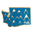 Washington Mountains Enamel Pin - SleepyMountain
