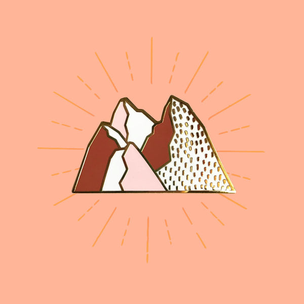 Pink Mountains Enamel Pin - SleepyMountain