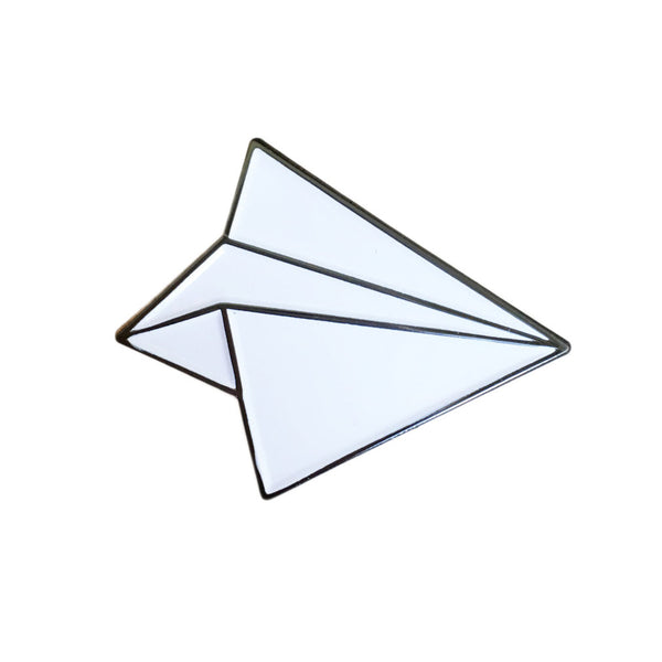 Paper Plane Enamel Pin - SleepyMountain