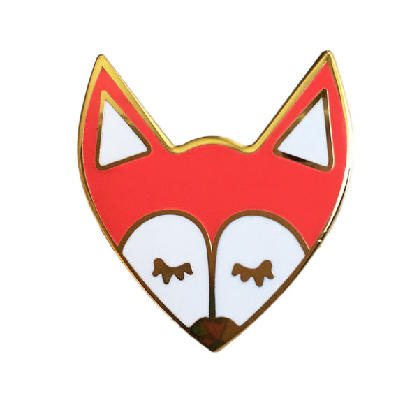 Fox Enamel Pin - SleepyMountain