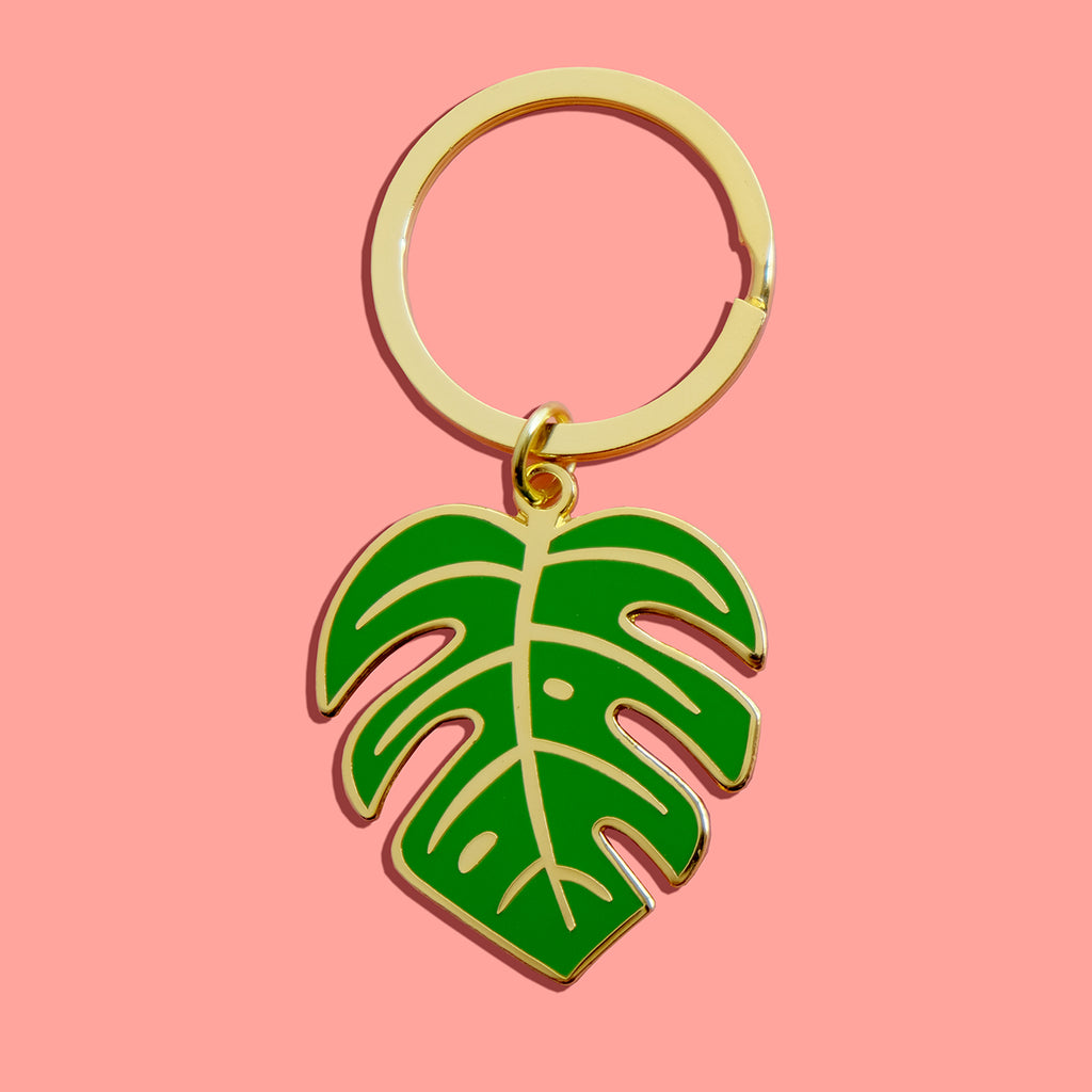 Monstera Leaf Keychain - SleepyMountain