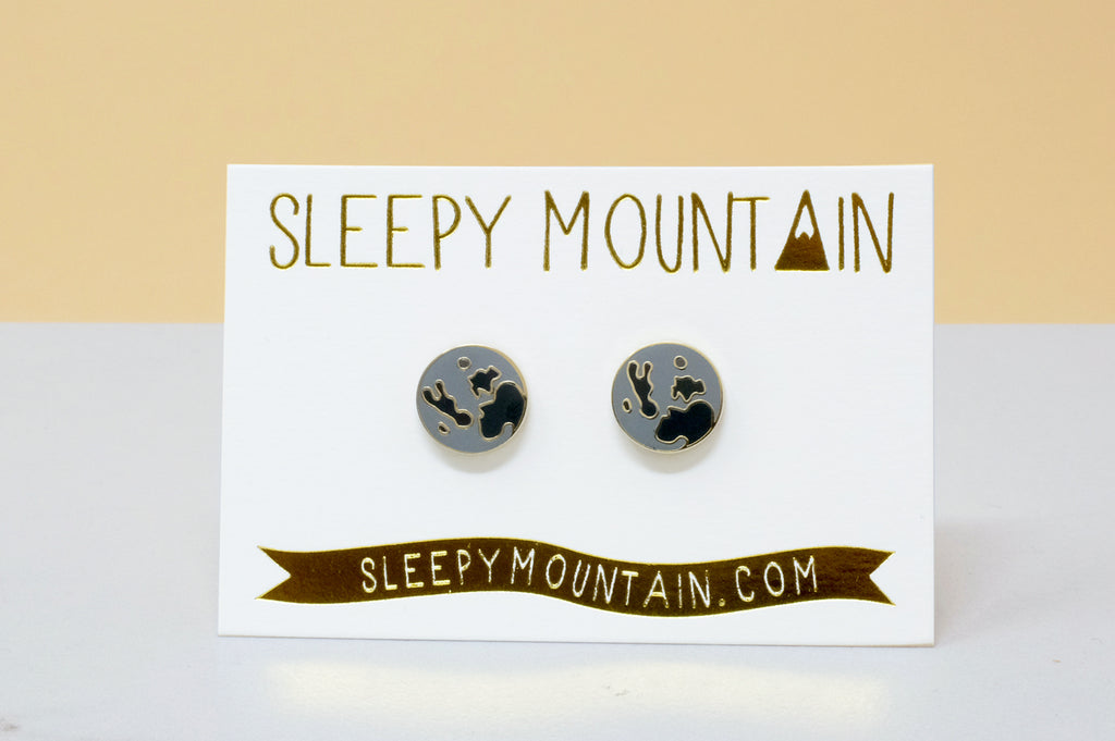Moon Earrings - Gold Plated - SleepyMountain