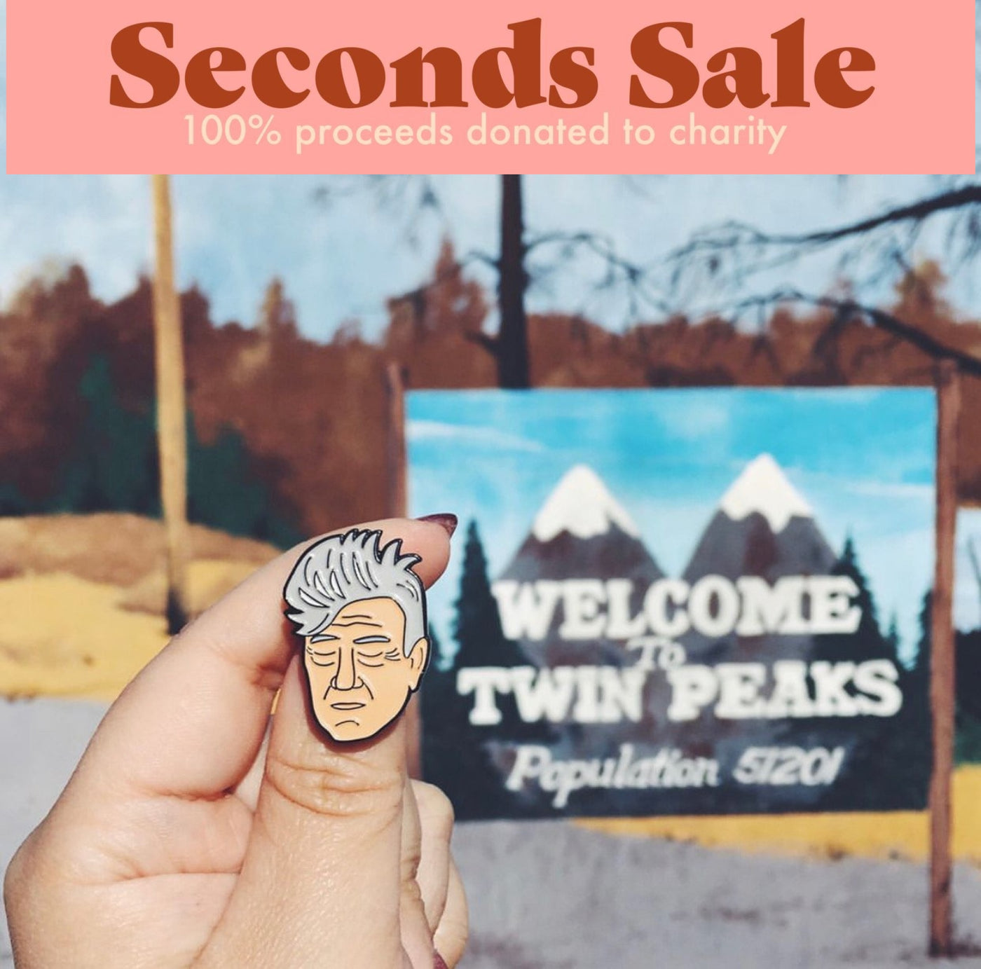 SECONDS SALE - David Lynch Enamel Pin - SleepyMountain