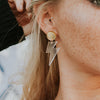 Lightning Bolt Earrings - Dangle - SleepyMountain