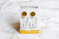 Teeth Earrings - Clear Dangle Tooth - SleepyMountain
