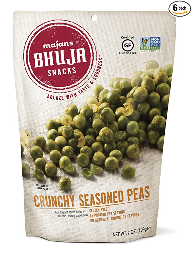 12 Crunchy Snacks That Are Healthy And Budget Friendly - Crunchy Seasoned Peas - Swolverine