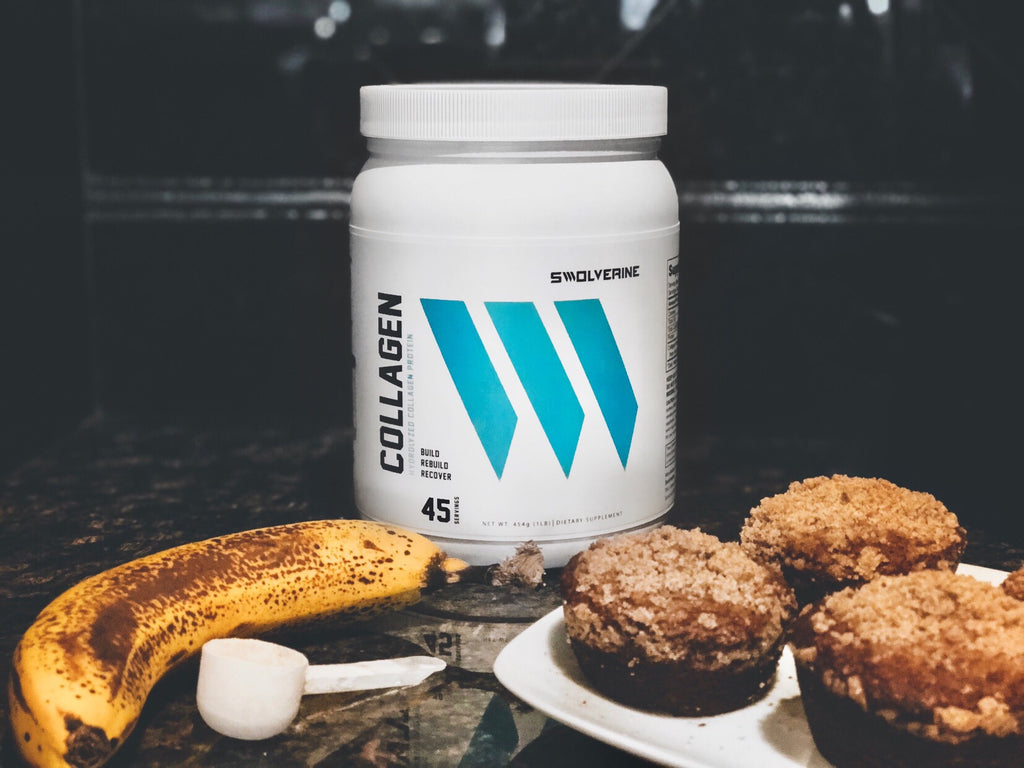 Banana Collagen Protein Muffin Recipe SWOLVERINE
